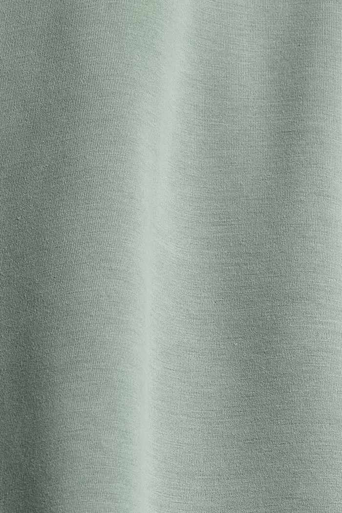 Sweat à capuche en molleton compact à teneur en TENCEL™, DUSTY GREEN, detail image number 4