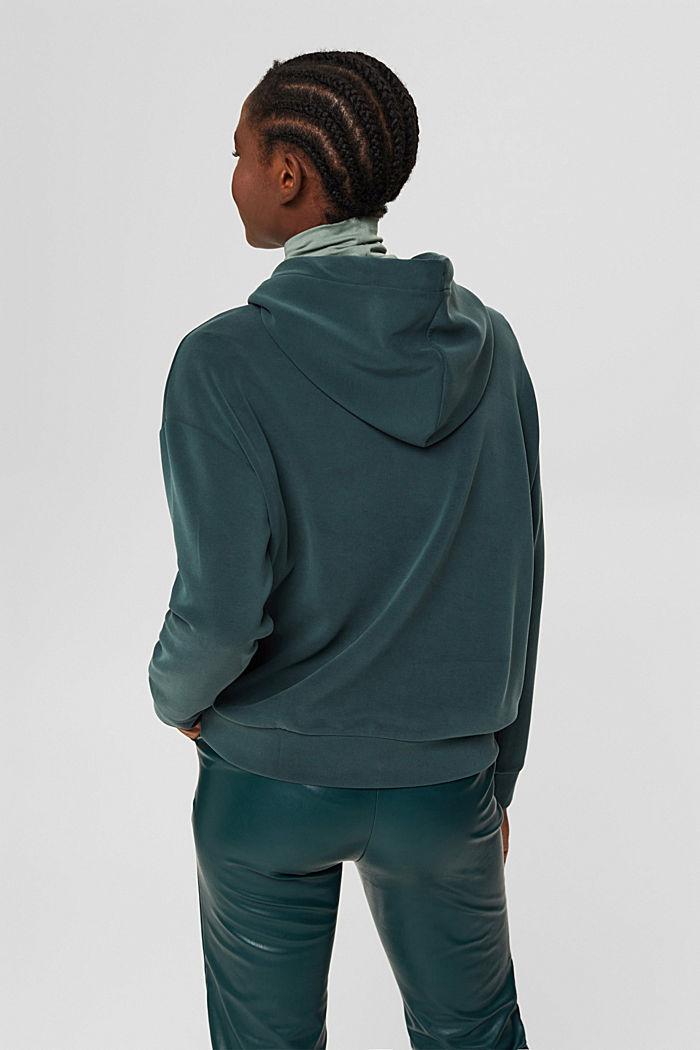 Sweat à capuche en molleton compact à teneur en TENCEL™, DARK TEAL GREEN, detail image number 3