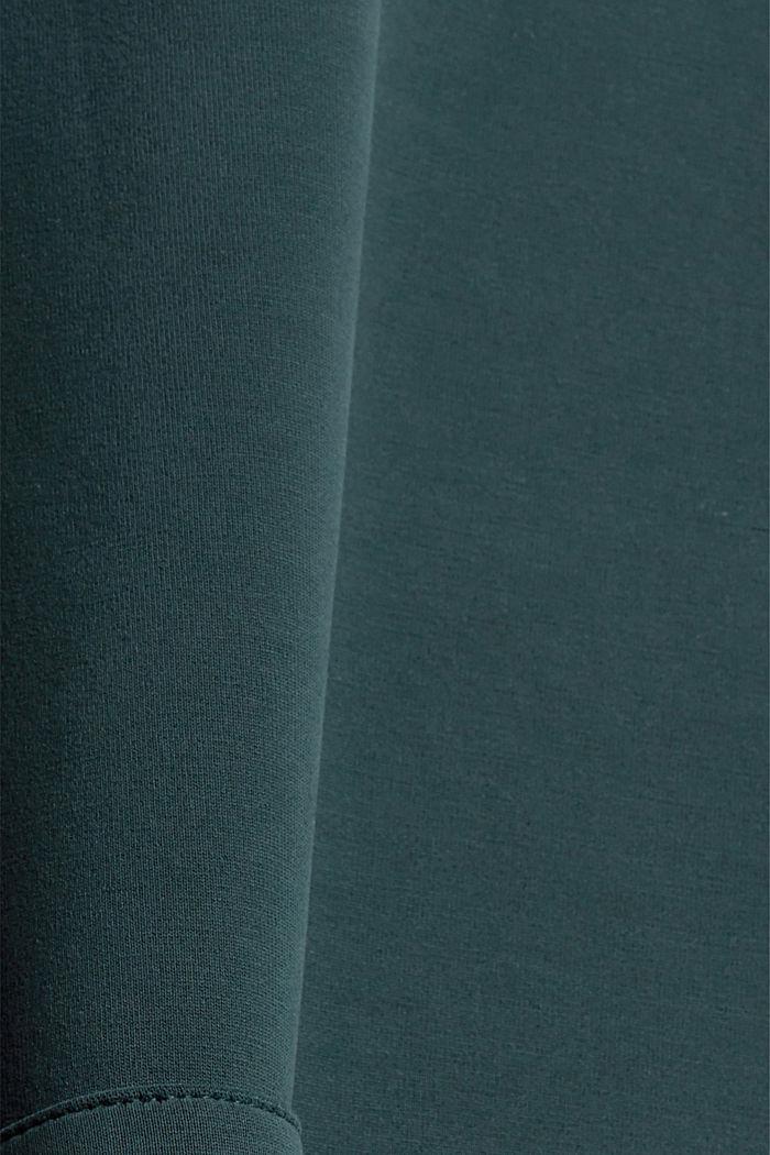 Sweat à capuche en molleton compact à teneur en TENCEL™, DARK TEAL GREEN, detail image number 4