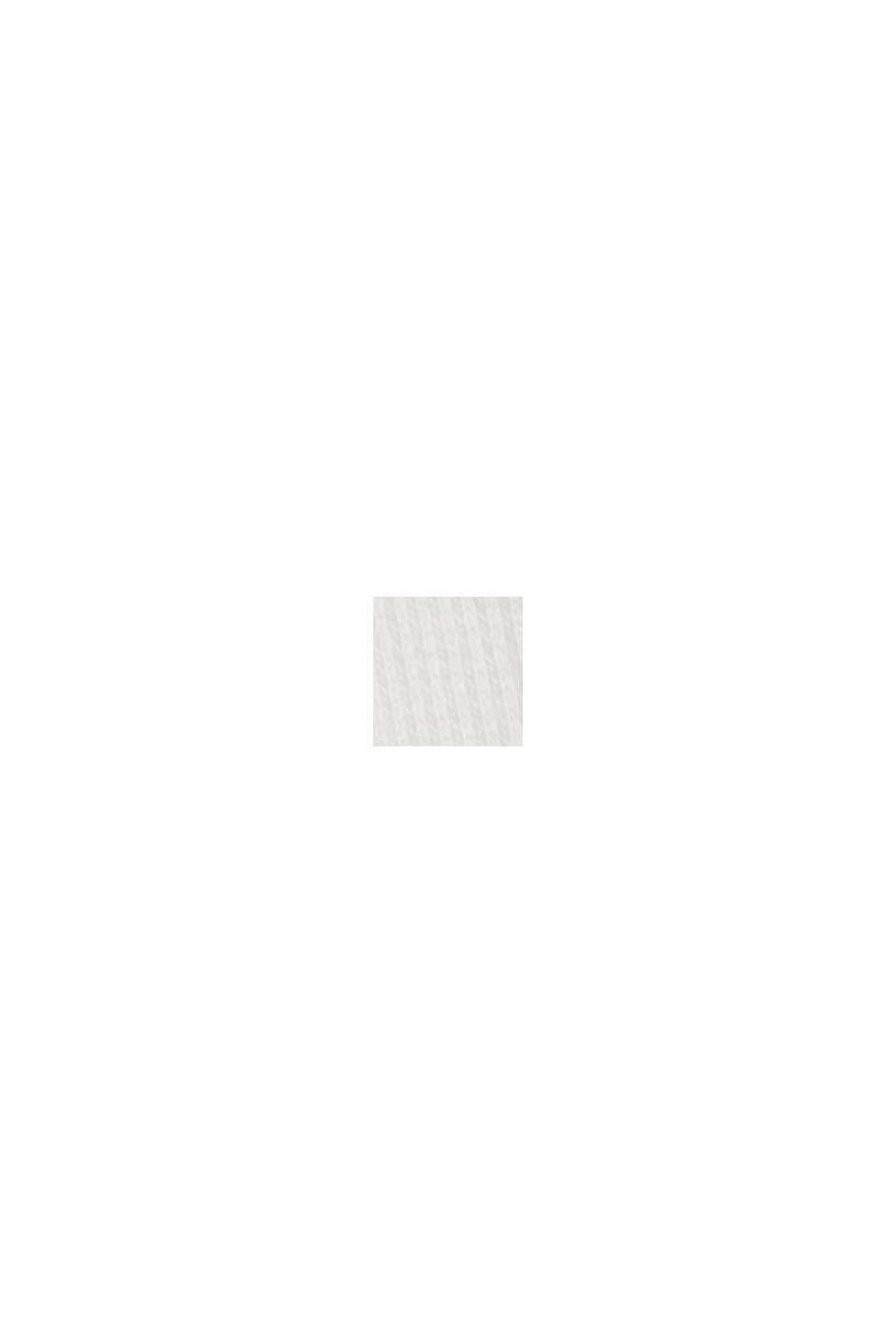 T-shirt côtelé à manches longues et col roulé, OFF WHITE, swatch