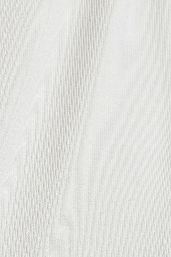Camiseta de manga larga con tira de botones, algodón ecológico, OFF WHITE, detail image number 4