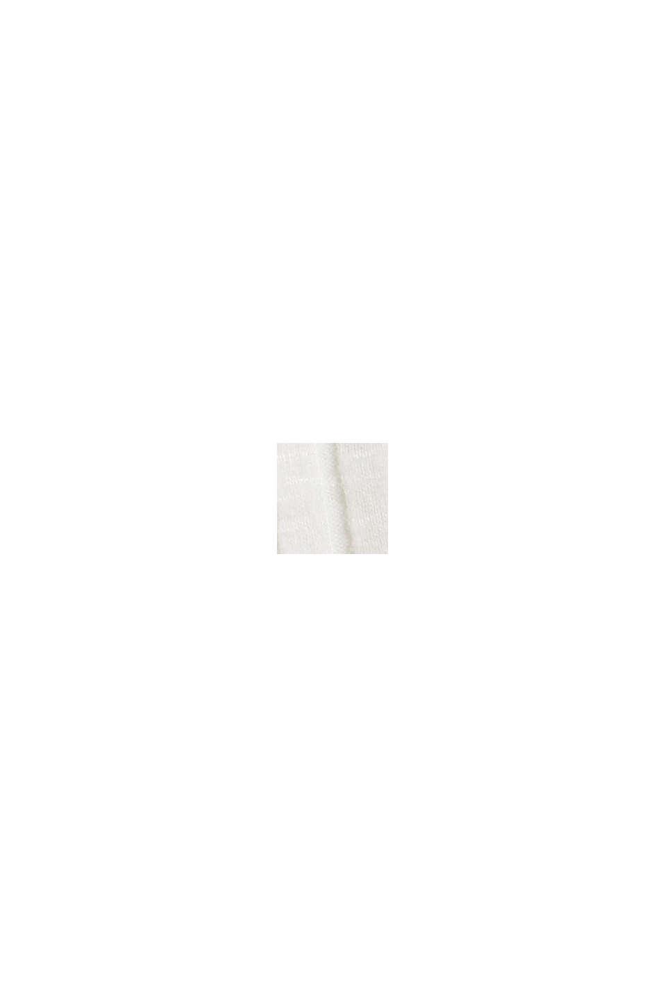 Geripptes Stehkragen-Shirt mit Knopfleiste, OFF WHITE, swatch