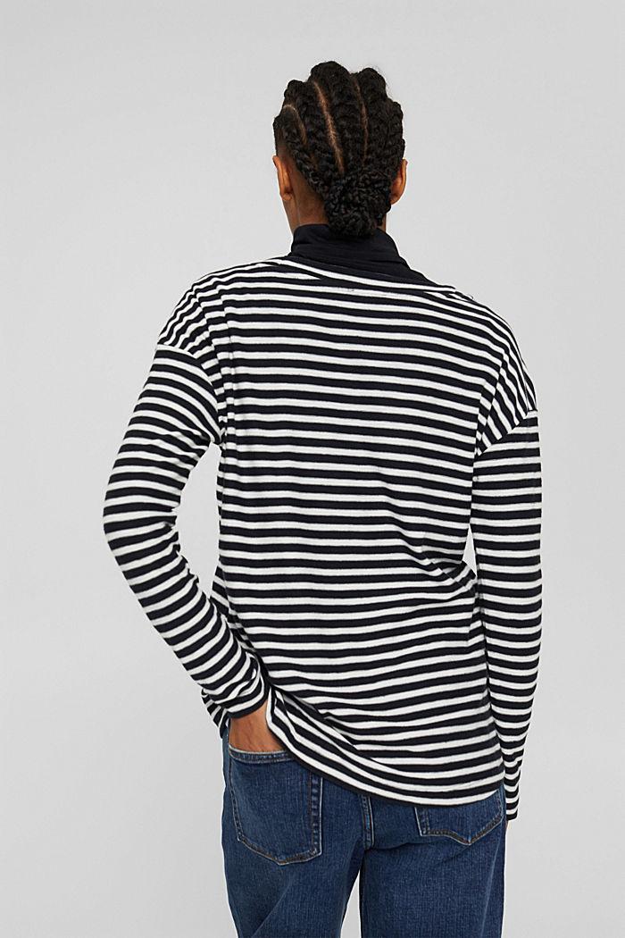 Streifen-Longsleeve aus 100% Bio-Baumwolle, BLACK, detail image number 3