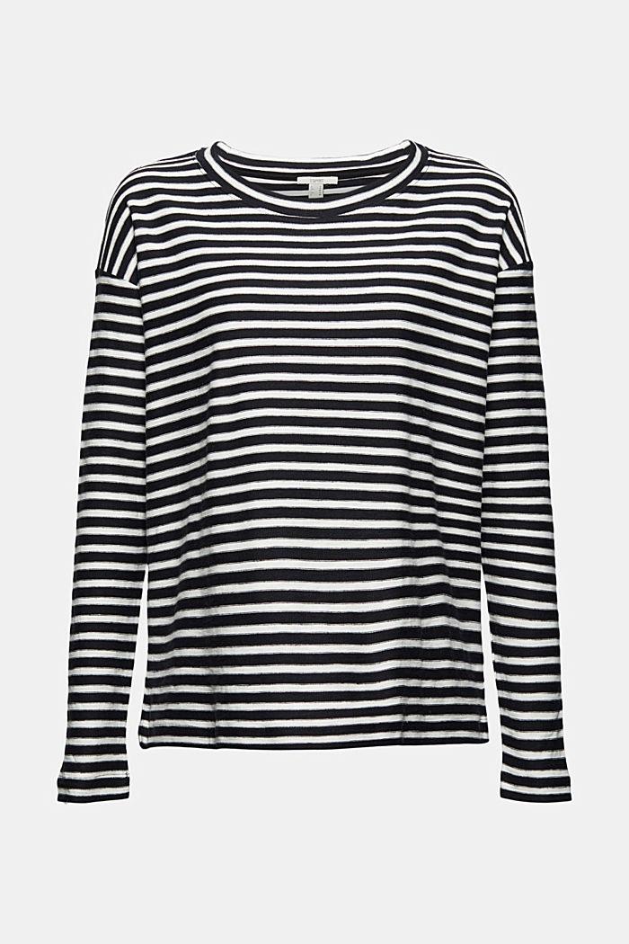 T-shirt rayé à manches longues, 100% coton biologique