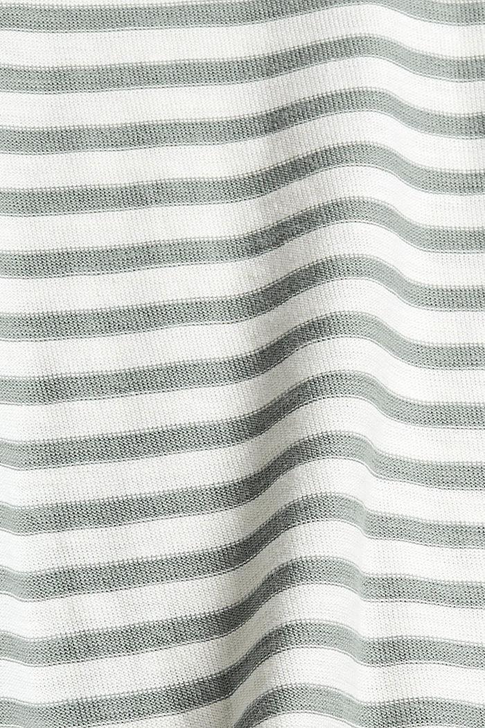 Streifen-Longsleeve aus 100% Bio-Baumwolle, DUSTY GREEN, detail image number 4