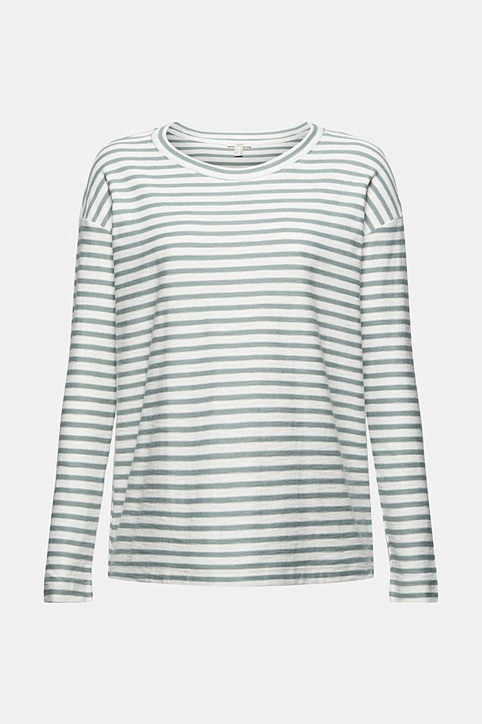Camiseta de manga larga con diseño a rayas en 100 % algodón ecológico