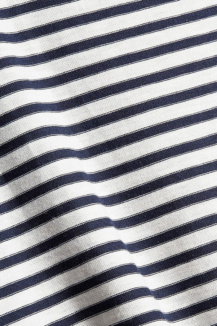 Gestreepte longsleeve van 100% katoen, NAVY, detail image number 4