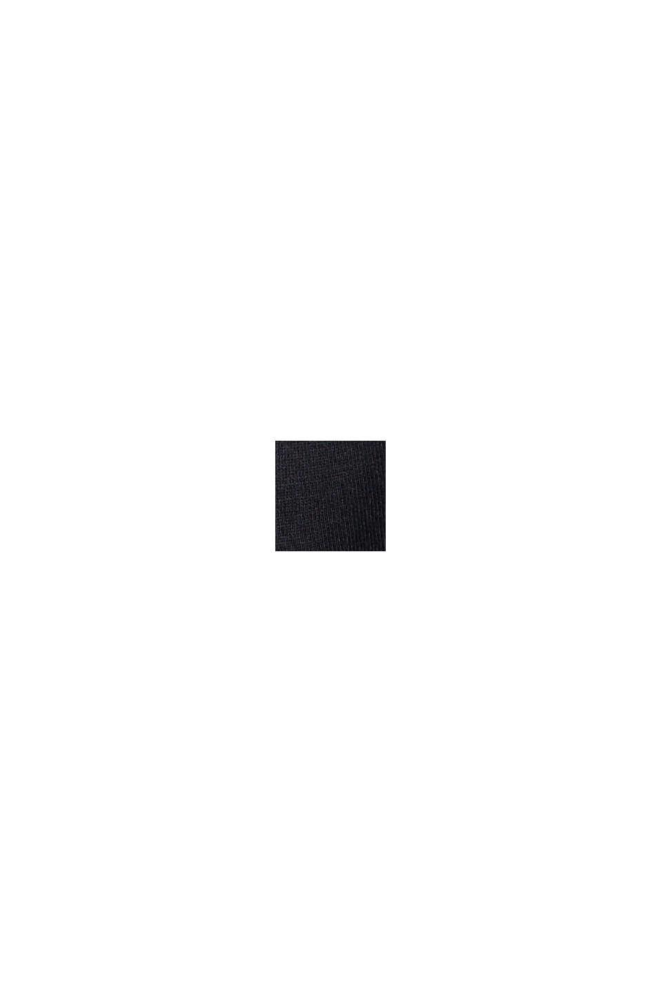 Camiseta de manga larga con frunces, algodón ecológico, BLACK, swatch