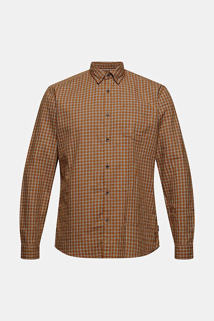 Flanellskjorta med rutmönster, ekobomull