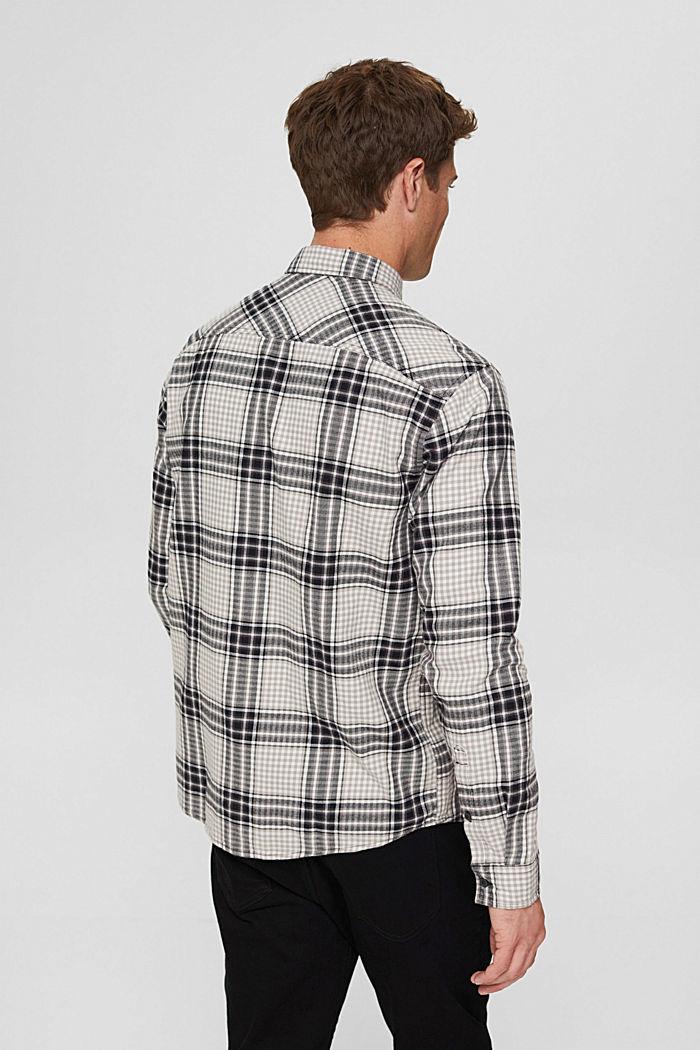 Flanellhemd mit Karomuster, Organic Cotton, BLACK, detail image number 3