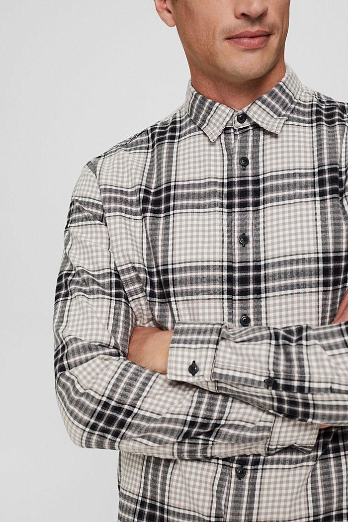 Flanellhemd mit Karomuster, Organic Cotton, BLACK, detail image number 2