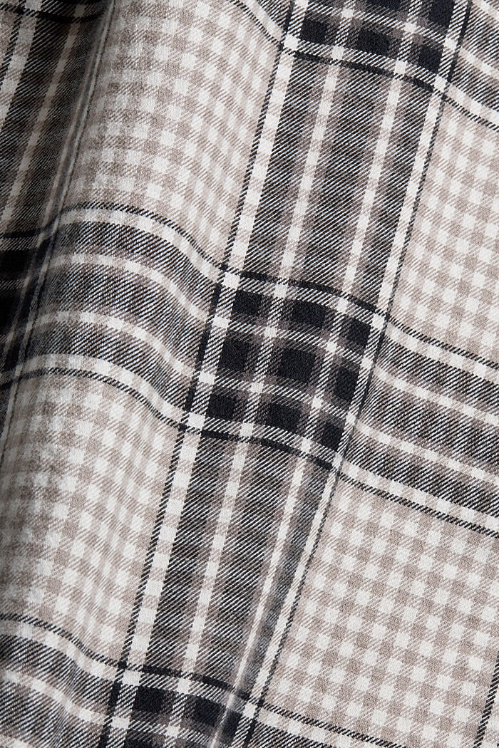 Flanellhemd mit Karomuster, Organic Cotton, BLACK, detail image number 4