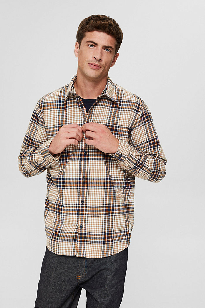 Shirts woven Regular Fit, CAMEL, detail image number 0
