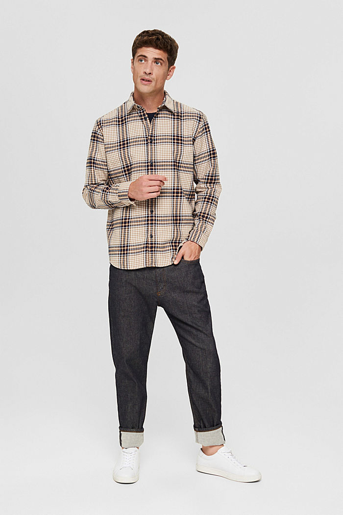 Rutmönstrad flanellskjorta, ekologisk bomull
