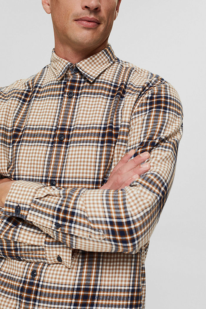 Shirts woven Regular Fit, CAMEL, detail image number 2