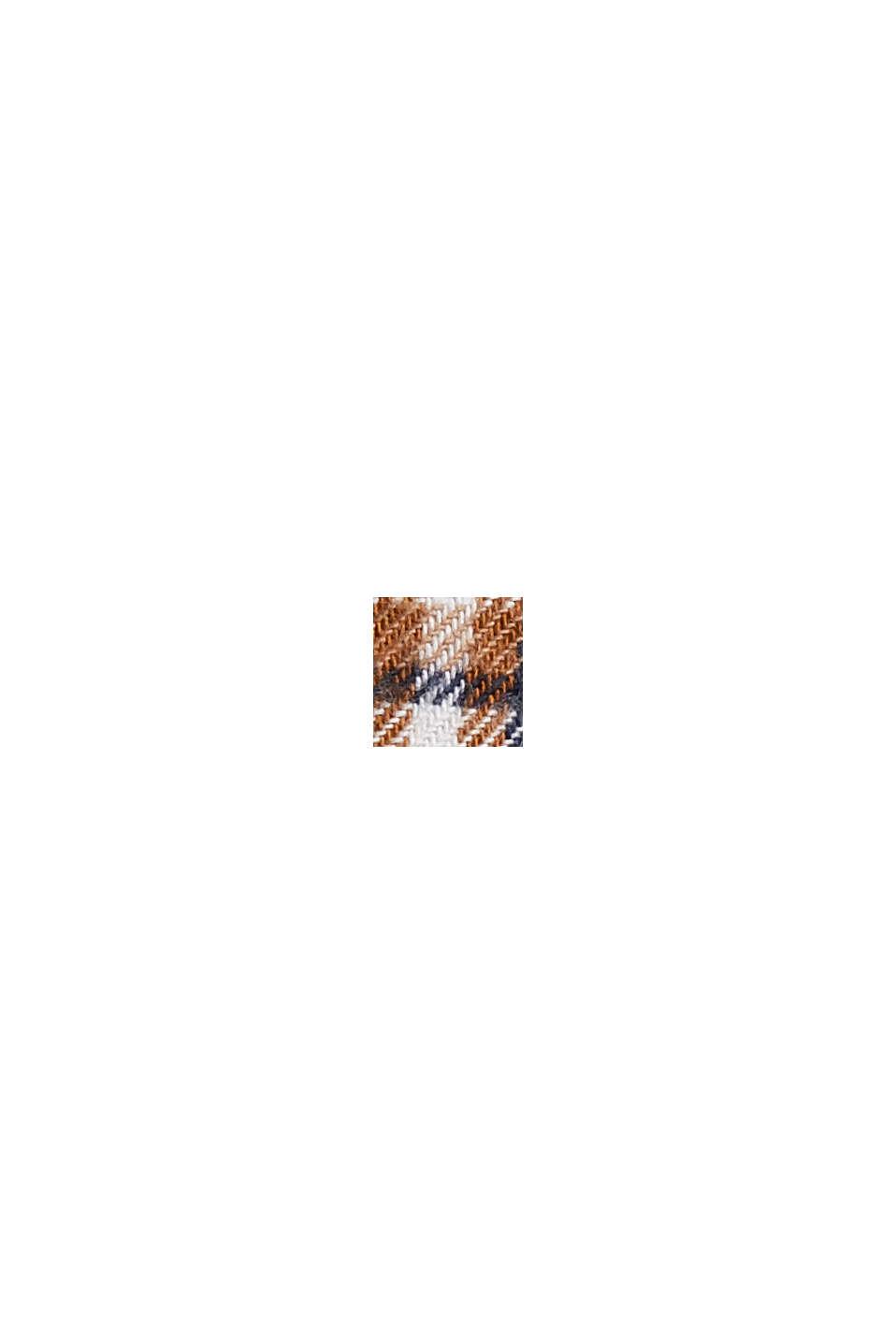 Rutmönstrad flanellskjorta, ekologisk bomull, CAMEL, swatch