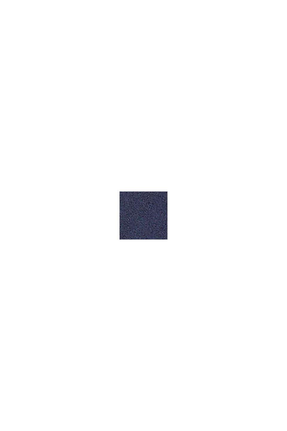 Overshirt imbottita in cotone, DARK BLUE, swatch