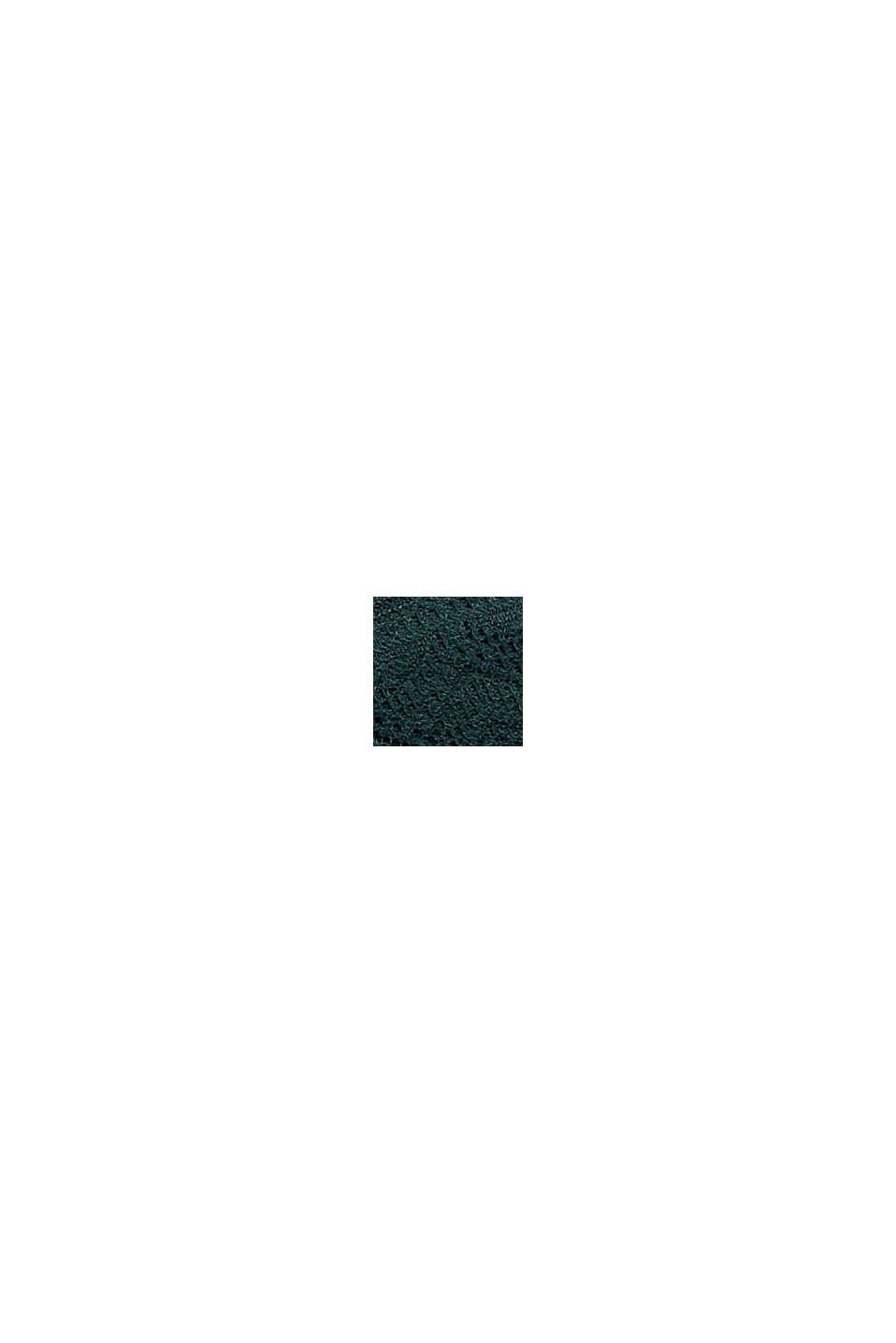 In materiale riciclato: culotte corte in pizzo, DARK TEAL GREEN, swatch
