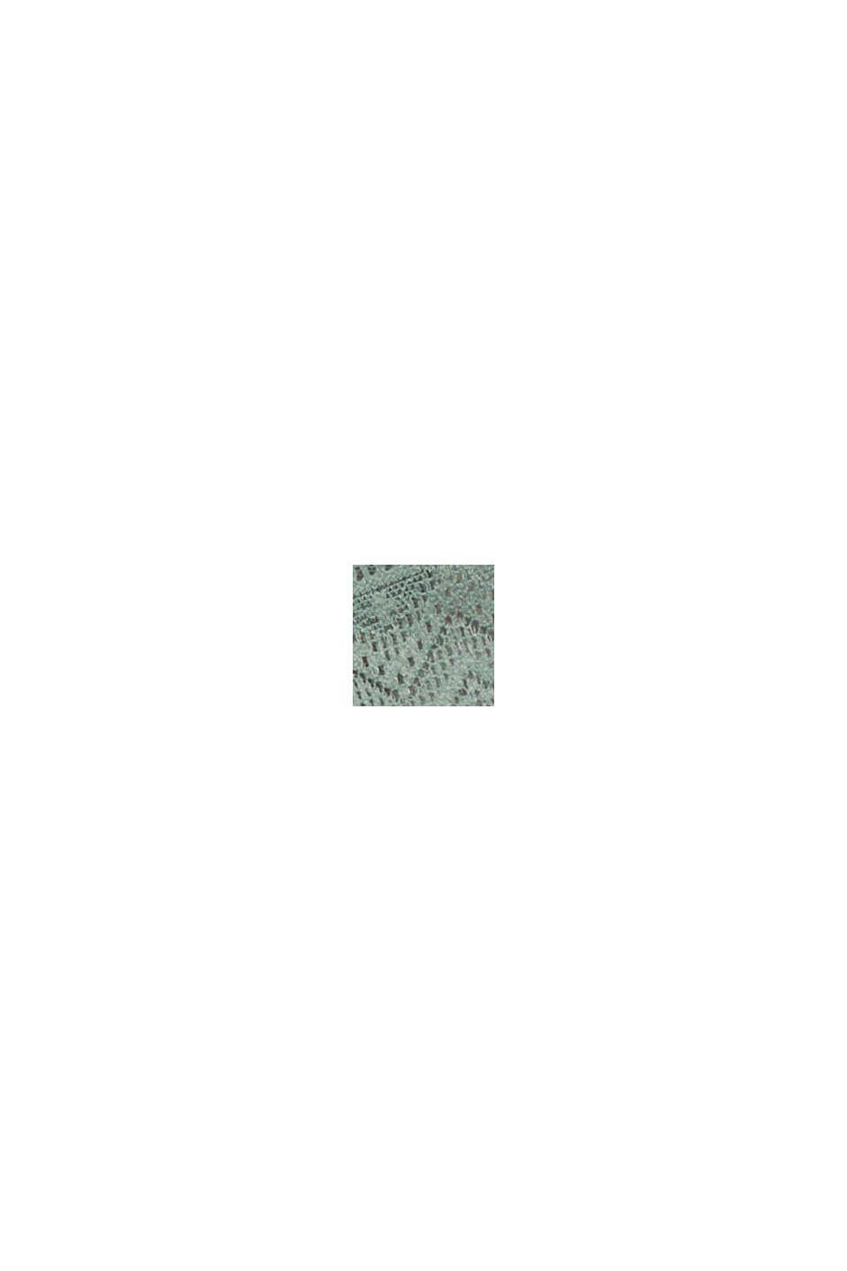 In materiale riciclato: culotte corte in pizzo, LEAF GREEN, swatch