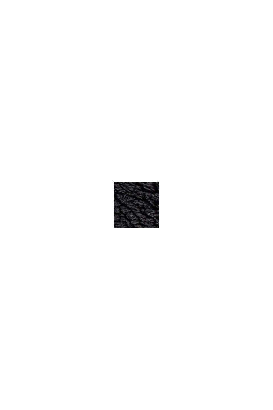 Vests indoor knitted, BLACK, swatch
