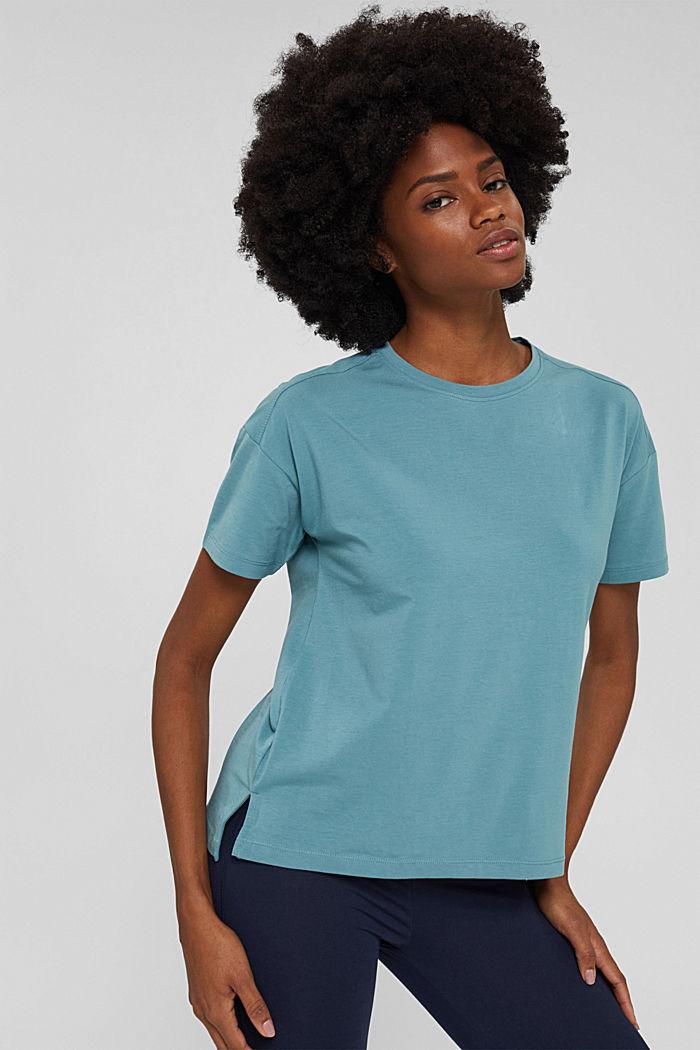 T-Shirt aus Organic Cotton, DARK TURQUOISE, detail image number 0