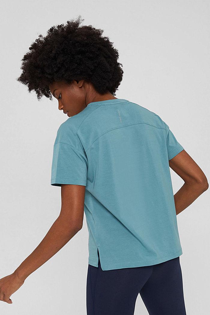 T-Shirt aus Organic Cotton, DARK TURQUOISE, detail image number 3