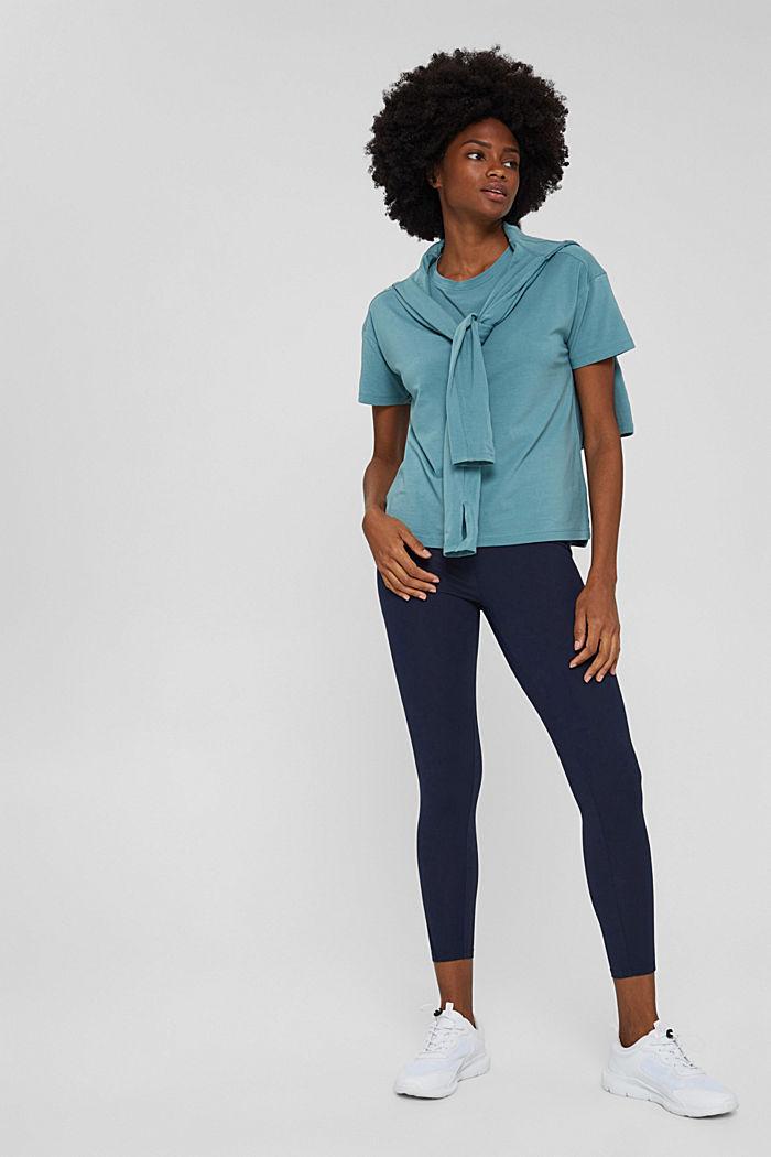 T-Shirt aus Organic Cotton, DARK TURQUOISE, detail image number 1