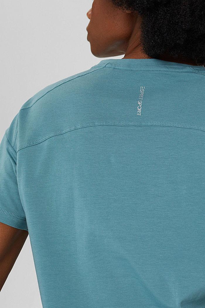 T-Shirt aus Organic Cotton, DARK TURQUOISE, detail image number 2
