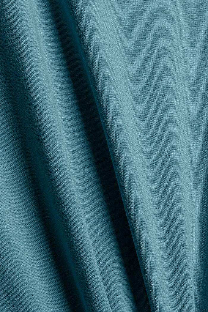 T-Shirt aus Organic Cotton, DARK TURQUOISE, detail image number 4