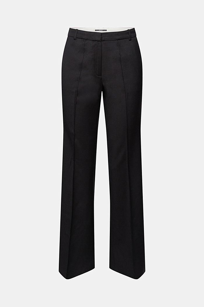 Med uld: bukser med slids forneden på benene