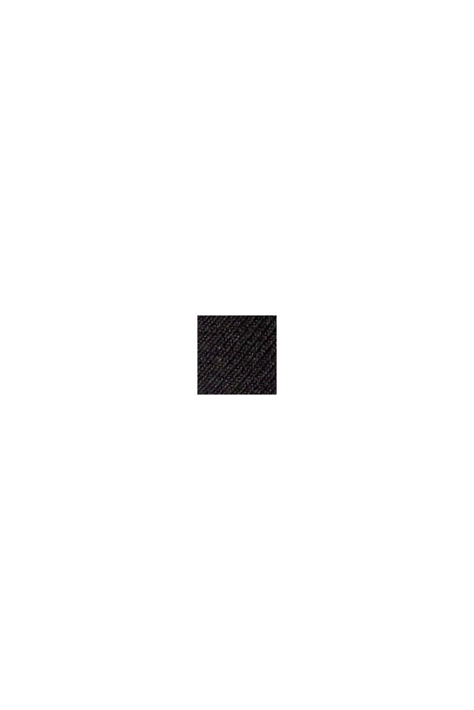 Med uld: bukser med slids forneden på benene, BLACK, swatch