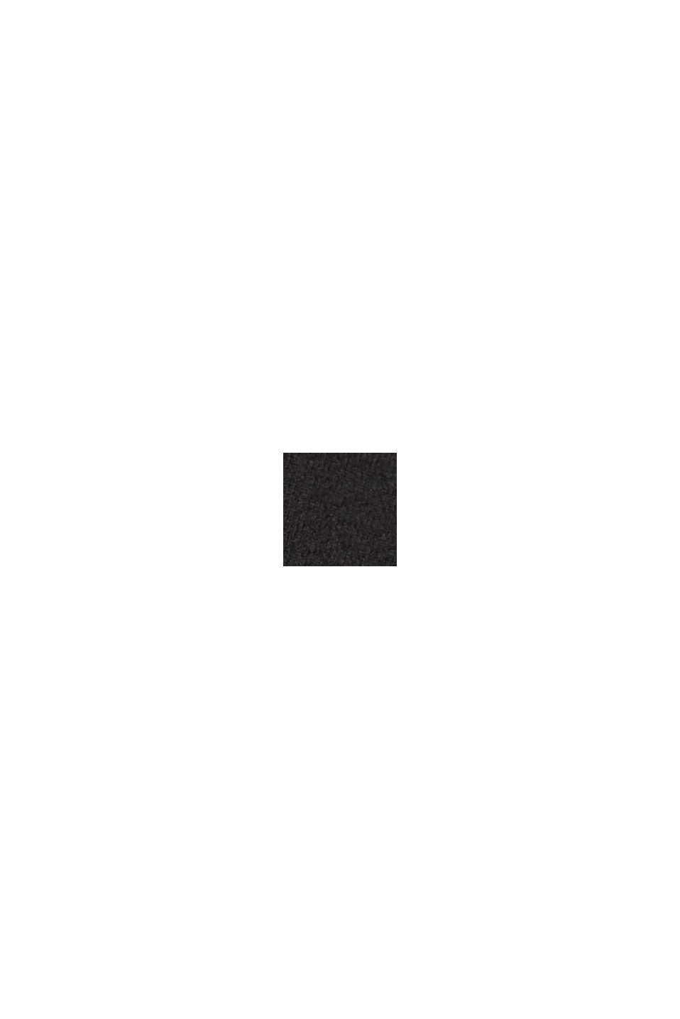 Recycelt: Flanellhose mit Gürtel, BLACK, swatch