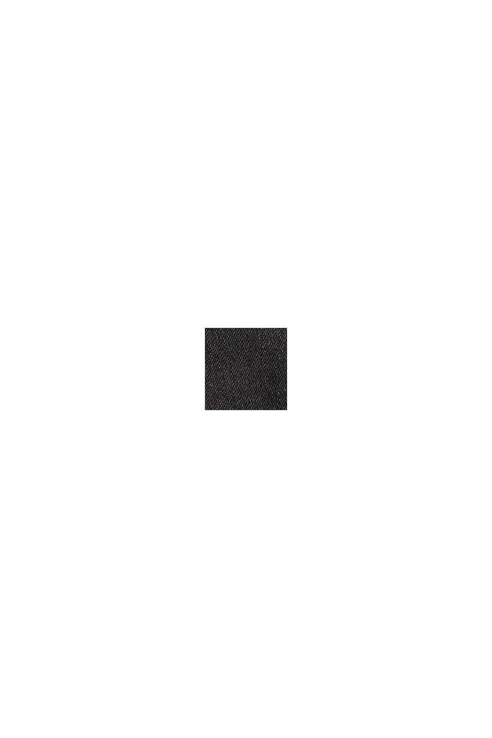 Beschichtete Stretch-Hose mit Schlitzen, BLACK, swatch