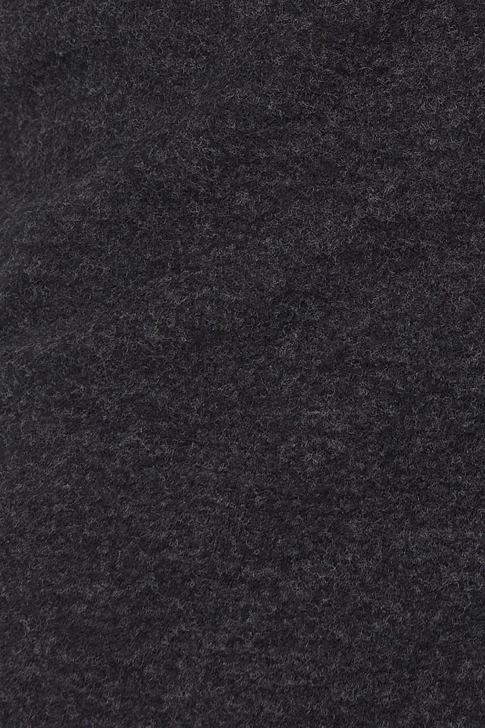 Jupe en maille à cordon de serrage, longueur midi, GUNMETAL, detail image number 4