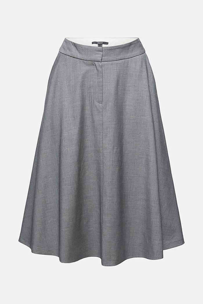Med uld: elegant, A-formet nederdel