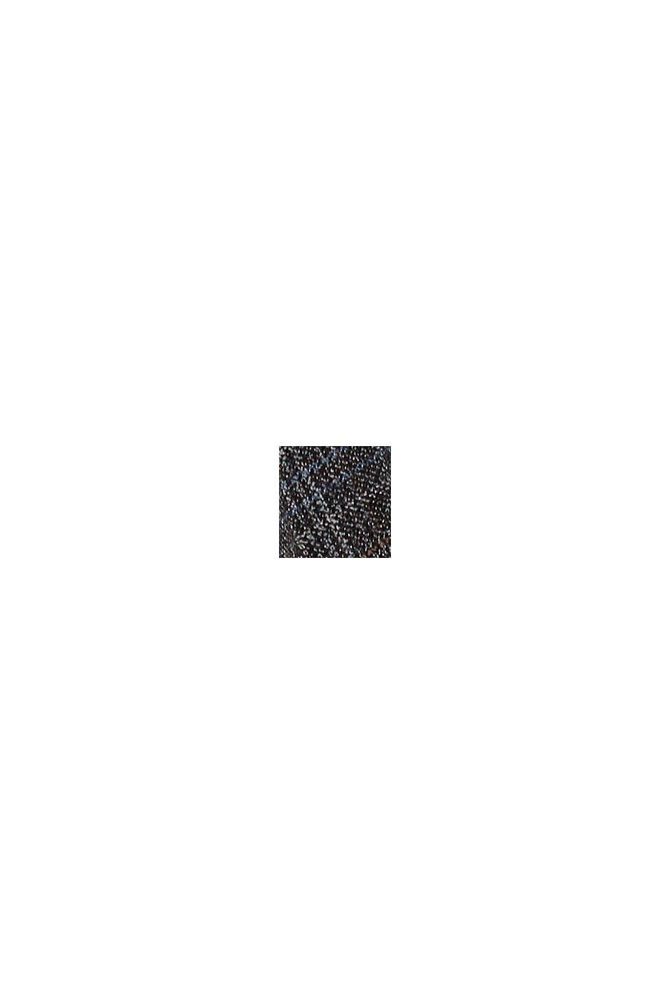 Recycelt: WINTERCHECK Mix & Match Plisseerock, ANTHRACITE, swatch