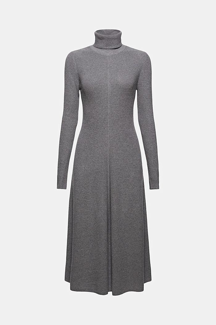 À teneur en cachemire: robe-pull de longueur midi