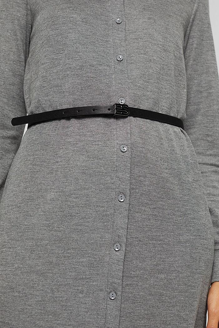 Jerseypaitapuseromekko ja vyö, MEDIUM GREY, detail image number 3