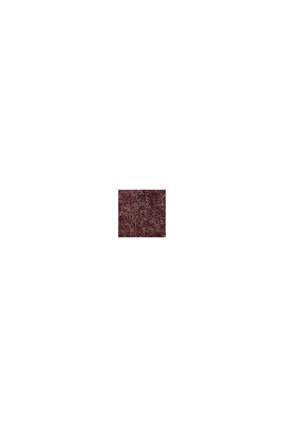 Recycelt: Strickkleid mit Gürtel, BORDEAUX RED, swatch