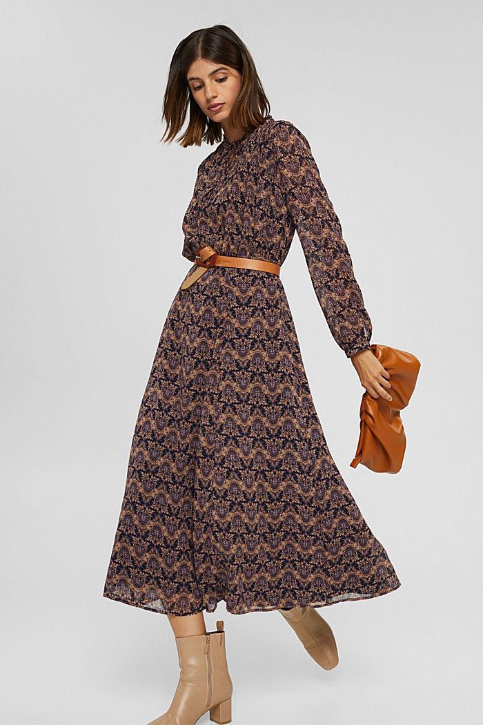 Dresses light woven, KHAKI BEIGE, detail image number 1