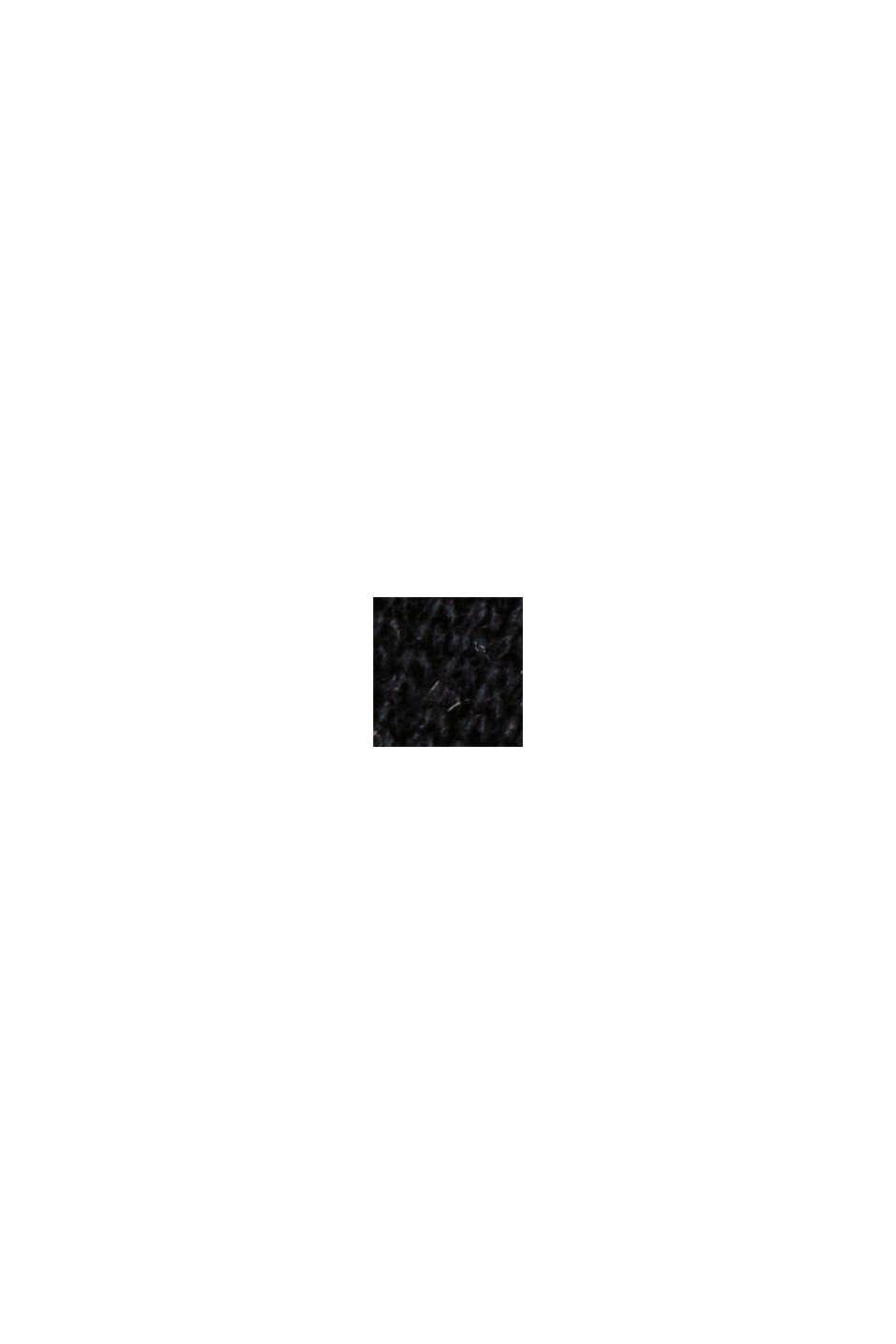 À teneur en laine et cachemire: robe en maille longueur midi, BLACK, swatch
