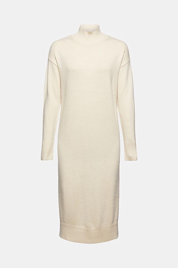 À teneur en laine et cachemire: robe en maille longueur midi