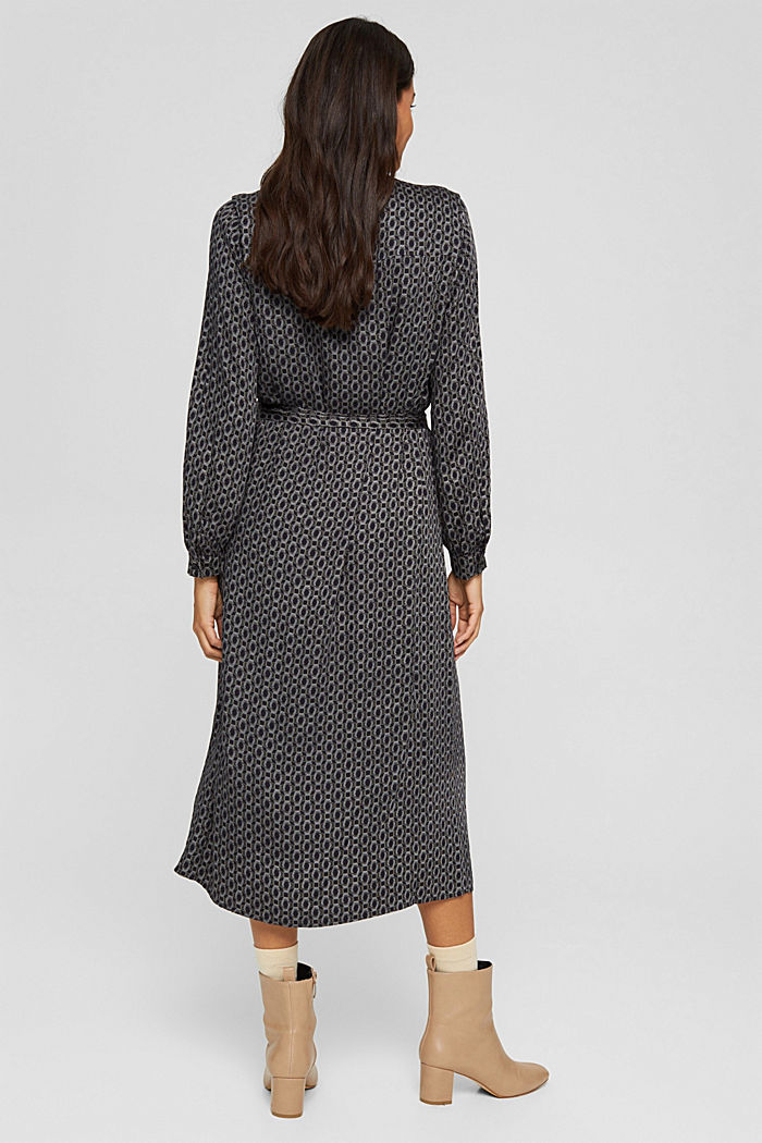 Hemdblusenkleid aus LENZING™ ECOVERO™, BLACK, detail image number 2