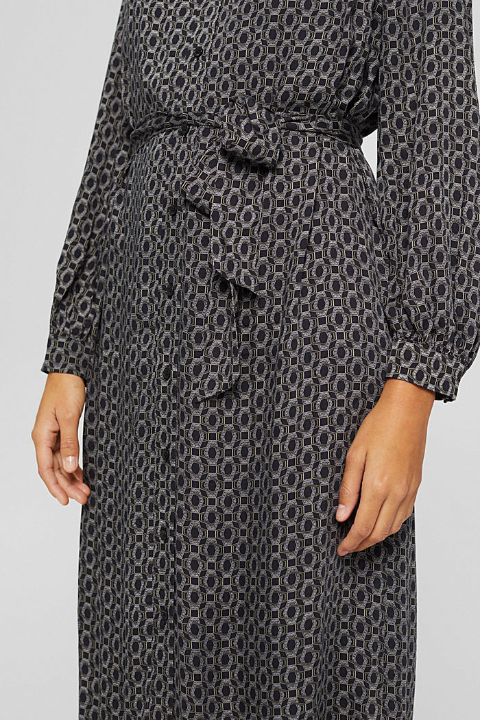 Hemdblusenkleid aus LENZING™ ECOVERO™, BLACK, detail image number 3