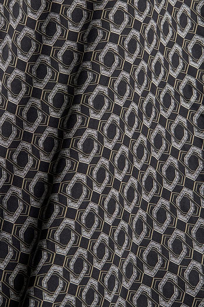 Hemdblusenkleid aus LENZING™ ECOVERO™, BLACK, detail image number 4