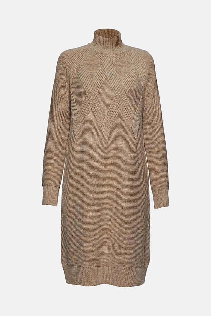 À teneur en laine/alpaga: robe en maille à col droit