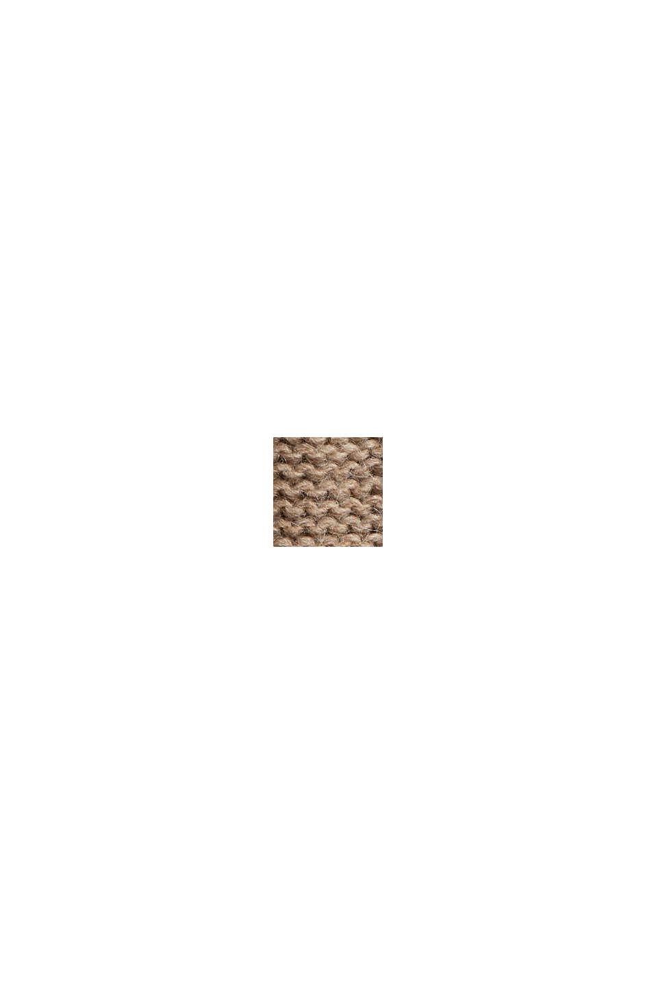 À teneur en laine/alpaga: robe en maille à col droit, LIGHT TAUPE, swatch