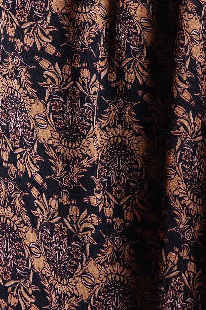 Reciclada: blusa de gasa con estampado de flores, KHAKI BEIGE, detail image number 4