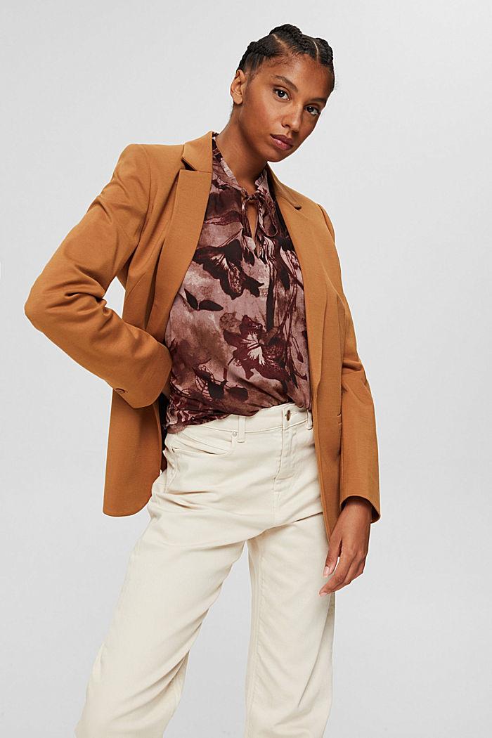 Gerecycled: chiffon blouse met bloemenprint, OLD PINK, detail image number 0