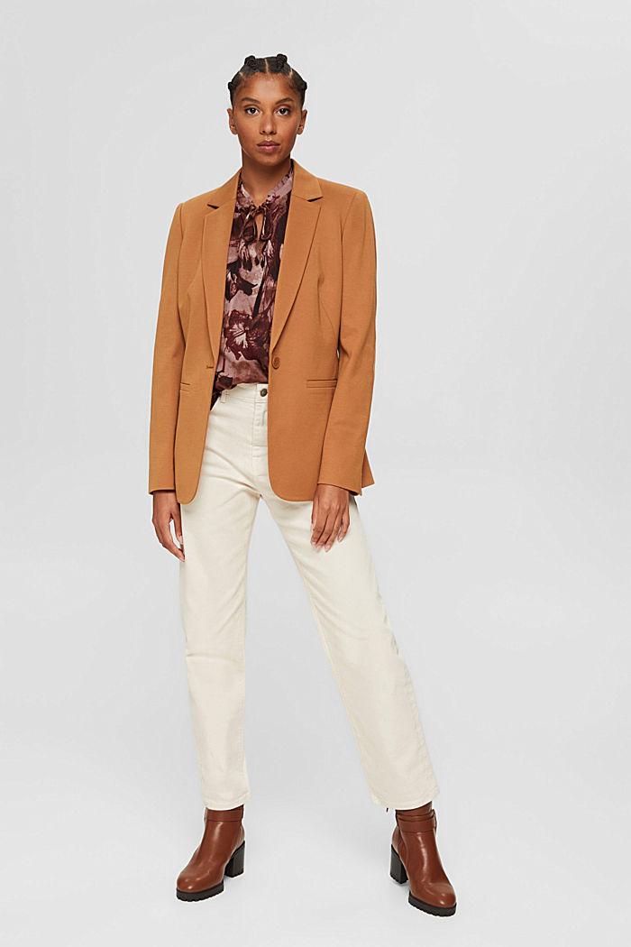 Gerecycled: chiffon blouse met bloemenprint, OLD PINK, detail image number 1